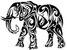 98 Awesome Best Animal Tattoo Designs, Tribal Crow Tattoo Designs Clipart, 108 Best Badass Tattoos for Men, Cool Tattoo Ideas for Men and Women the Wild Tattoo Design, attractive Black Tribal Animal Tattoos Designs. Tribal Animal Tattoos, Tribal Animals, Tribal Art, Tattoo Animal, Elephant Tattoo Design, Tribal Tattoo Designs, Elephant Tattoos, Elephant Stencil, Stammestattoo Designs