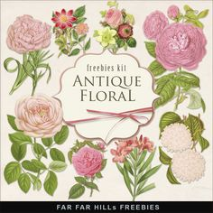 Far Far Hill - Free database of digital illustrations and papers: New Freebies Kit - Antique Floral