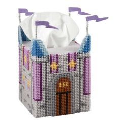 Wizard's Castle Tissue Box Cover Plastic Canvas Kit - Herrschners