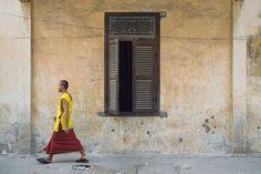 Novice monk in Phnom Penh, Cambodia
