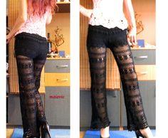 pantalon crosetat summer fashion women