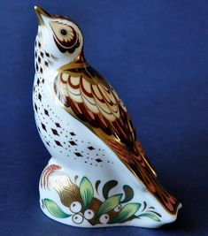 Royal Crown Derby Mistle Thrush http://www.bwthornton.co.uk/royal-crown-derby.php