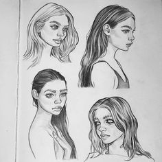 Ideas fashion art sketches inspirational for 2019 Drawing Sketches, Art Drawings, Amazing Drawings, Beautiful Drawings, Pencil Drawings, Sketching, Art Du Croquis, Hair Sketch, Arte Sketchbook