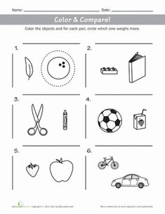 heavy or light measuring weight math worksheets kid and first grade math. Black Bedroom Furniture Sets. Home Design Ideas