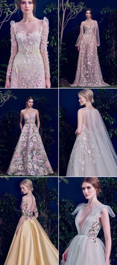 Full of Life! 26 Breathtaking Wedding Dresses With Refreshing Botanical Details Full of life! 26 stunning wedding dresses with refreshing botanical details! Designer Wedding Gowns, Wedding Dress Trends, Dream Wedding Dresses, Bridal Dresses, Designer Dresses, Prom Dresses, Pretty Dresses, Beautiful Dresses, Mode Inspiration