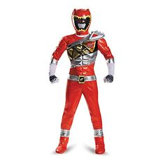 Disguise Red Ranger Dino Charge Prestige Costume, Medium (7-8) ** You can find more details by visiting the image link.
