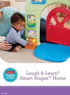 Fisher-Price Laugh & Learn® Smart Stages™ Home features three levels of play with over 75+ sing-along songs, tunes & phrases that match your child's age & stage. #Development #Learning
