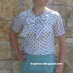 Possibly the Cutest Blouse EVER  Simplicity 2154