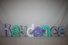 Set of 8 Nursery letters Custom wood letters by WoodenWondersShop