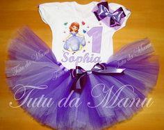 Fantasia Tutu Princesa Sofia Roxa-Lilás