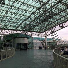PDX Portland international airport #pdx #Portland #airport #architecture #structure #glass #metal #oregon
