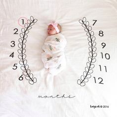 Baby Wreath Monthly Milestone Blanket™ / swaddle by BATZkids