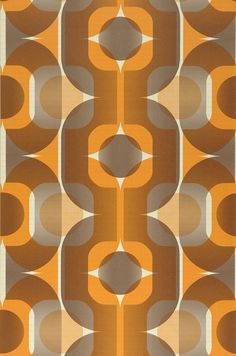 $26.11 Price per roll (per m2 $4.90), I love the 70s , Carrier material: Non-woven wallpaper, Surface: Fine structure, Vinyl, Look: Matt, Design: Retro elements, Basic colour: Light ivory, Pattern colour: Dark grey beige, Orange, Orange brown  , Characteristics: Good lightfastness, Highly wash-resistant, Low flammability, Strippable, Paste the wall