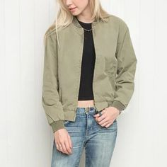 HOT SALE ! 2017 new Trendy O-Neck Casual Short ThinBomber  Jacket Coat Pilots Fashion Women Outerwear female 3 Color #Affiliate