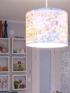 Map Light for a Travel Nursery #SweetNotSmellyNursery