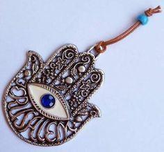 Jerusalem Hamsa Hand Wall Hanging Amulet Evil Eye Protection Charm Judaica Art | eBay