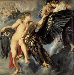 Ganymede and the Eagle - Rubens, Peter Paul (Flemish, 1577 - Fine Art Reproductions, Oil Painting Reproductions - Art for Sale at Bohemain Fine Art Peter Paul Rubens, Pedro Pablo Rubens, Rubens Paintings, Web Gallery Of Art, Greek And Roman Mythology, Baroque Art, Baroque Painting, William Turner, Guache