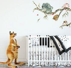 Australia Nursery Theme Decorating Ideas Baby Koala Bear Crib Mobiles Baby Nursery Neutral, Baby Nursery Decor, Nursery Themes, Nursery Ideas, Australian Nursery, Reborn Nursery, Minimalist Baby, Baby Koala, Baby Boy Or Girl