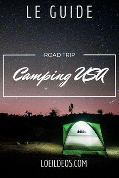 Les campings des National Park : Ils sont situés au cœur des parcs nationaux, c'est un réel plaisir que de faire du camping dans la vallée de Yosemite ou encore à deux pas du Grand Canyon ! Et surtout de ne pas exploser son budget logement car la note peut très vite grimper lorsqu'il s'agit de loger dans un hôtel situé dans un parc national ! Ils disposent en général de toutes les commodités ou presque (douches [voir plus bas] WC, eau etc).