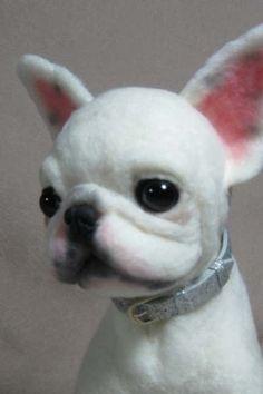 OOAK Needle Felted French Bulldog Puppy Dog | eBay