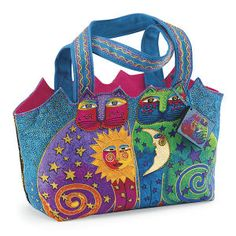 Laurel Burch® Celestial Felines Tote - Best Selling Gifts, Clothing, Accessories, Jewelry and Home Décor