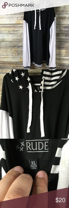 Hot Topic hoodie, for men & woman & teenage kids! Hot Topic hoodie, for men & woman & teenage kids! Black & white hoodie  with Stars and Stripes! Hot Topic Other