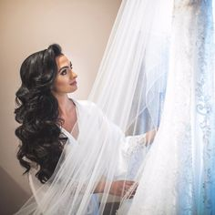 How beautiful this bride is ? hair done by by Extentions by (bridal updo chignon) Wedding Hairstyles For Long Hair, Loose Hairstyles, Bride Hairstyles, Updo Hairstyle, Hairstyle Ideas, Wedding Hair And Makeup, Hair Makeup, Wedding Hair Up, Medium Long Hair