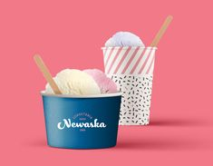 Brand identity for Sorveteria Newaska Ice Cream Shop. Since the most traditional ice cream shop in Cachoeirinha/RS has been conquering the public of its hometown, as well as a large public of the metropolitan region of Porto Alegre. The shop offers … Sound Design, Game Design, Web Design, Typography Design, Branding Design, Ice Cream Brands, Fashion Graphic Design, Behance, Brand Design