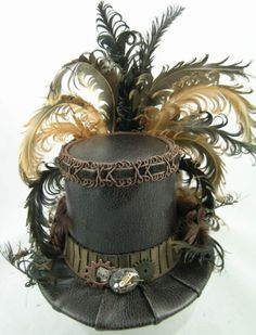 Mini Top Hat Brown Gears and Time Travel Steampunk Victorian Steampunk Cosplay, Viktorianischer Steampunk, Steampunk Wedding, Steampunk Clothing, Steampunk Fashion, Gothic Fashion, Steampunk Interior, Steampunk Dress, Renaissance Clothing