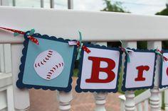 Baseball Birthday Banner by KellyKrockerKreates on Etsy, $23.00