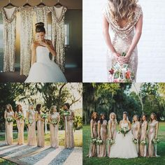 2015 Gold Sequins High Neck Cap Sleeves Long Bridesmaid Dresses Bling Sheath Prom Dresses Long Maid Of Honor Dresses Formal Evening Gowns