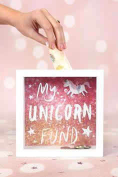 Unicorn fund box frame money box