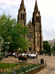 Church at St. Ludmila in Vinohrady in Prague
