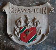 Family Coat of Arms Carved in wood, Gravestein Family, Rotterdam Netherlands http://www.patrickdamiaens.be