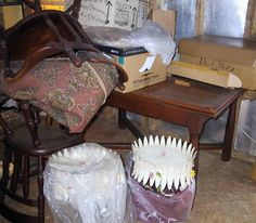 3/4/16 Rockville, MD attic over garage-two metal lamps that sold for $270