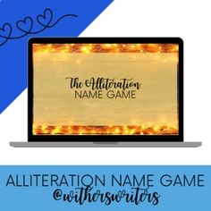 Back to School/Beginning of the Year Alliteration Name Game (FREE) First Day Activities, Back To School Activities, Name Games, Alliteration, New Students, First Day Of School, Names, Learning, Free