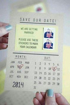 Invitación con calendario