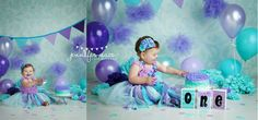 Ombre mermaid inspired banner in purples and by babybirdieboutique, $25.00