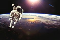 Astronaut In Outer Space Above The Earth During Sunset. Elements Stock Photo - Image of hurricane, environment: 55084554 Revolution, Dream Chaser, Space Photos, Out Of This World, Astronaut, Outer Space, Digital Image, Royalty Free Images, Earth