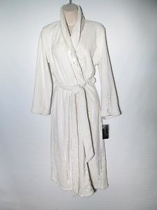 Jones New York Plush Robe White Size s M Small Medium New | eBay