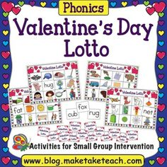 Celebrate Valentine's Day during your small group instruction while teaching and practicing Consonant-Vowel-Consonant (CVC) words.  This activity can also be used in your classroom literacy centers.  Your students will love matching the CVC words to the colorful and engaging pictures.