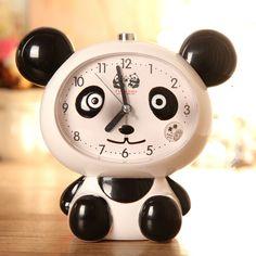 # A Panda nachtlicht wecker stumm schöne kinder reden cartoon student schlafzimmer nacht uhr student uhr