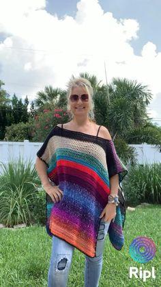 Boho Crochet Patterns, Hippie Crochet, Crochet Poncho Patterns, Crochet Shawl, Hand Crochet, Knit Crochet, Knit Poncho, Hippie Outfits, Boho Tops