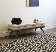 dwell studio - modern retro Upholstered Furniture, Home Furniture, Modern Furniture, Furniture Ideas, Furniture Design, Modern Chairs, Modern Decor, Modern Design, Leather Bench