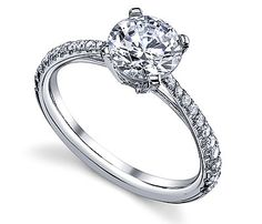 So pretty...14K White Gold Luseen French Pave Setting