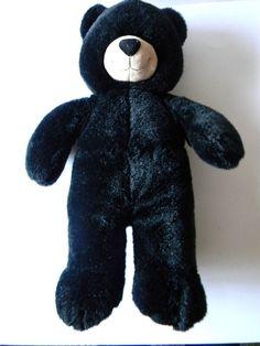 "Black Bear Build a Bear Plush Stuffed Animal Toy 17"" Very Beautiful and Clean! #BuildaBear"