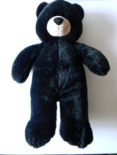 "Black Bear Build a Bear Plush Stuffed Animal Toy 17"" Very Beautiful and Clean! #BuildaBear"