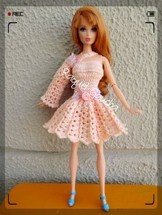 #Cléa5 #Crochet #Barbie #Doll #Muñeca #Vestido #RaquelGaucha