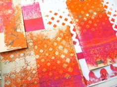 fun way to make your own patterned paper with the Gelli Plate! Making custom coordinating papers is easy! Here's a quick video showing you how I made these papers.