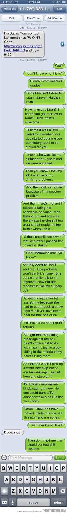 Hahaha!!  Now that's texting like a BOSS!!!